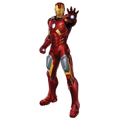 Avengers Iron Man Peel and Stick Giant Wall Decal