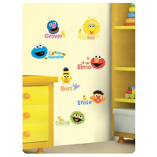 Sesame Street Scribble Characters Peel and Stick Wall Decals