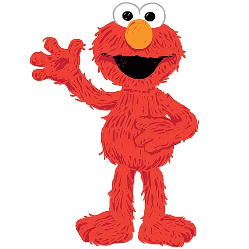 Sesame Street Elmo Loves You Peel and Stick Giant Wall Decal