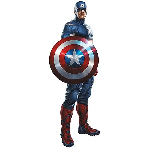 Avengers Captain America Peel and Stick Giant Wall Decal