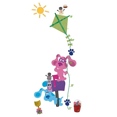 Blue's Clues Growth Chart Peel and Stick Wall Decal
