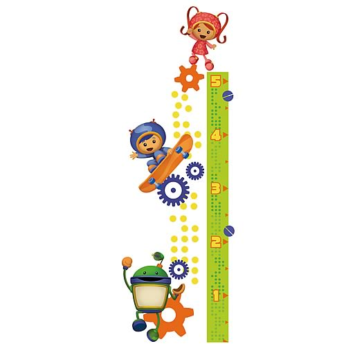 Team Umizoomi Growth Chart Peel and Stick Wall Decal