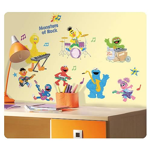 Sesame Street Rock Nu0027 Roll Peel And Stick Wall Decals Part 44