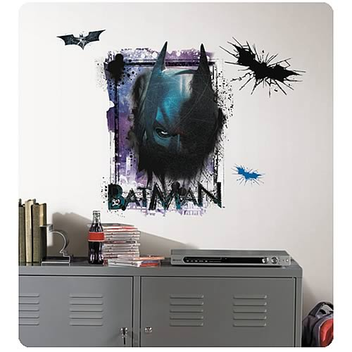 Batman dark knight rises shadows giant wall decal for Dark knight rises wall mural