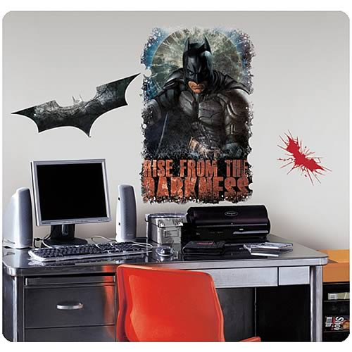 Batman dark knight rises darkness giant wall decal for Dark knight mural
