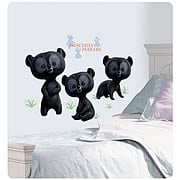 Brave 3 Brother Bears Peel and Stick Giant Wall Decals