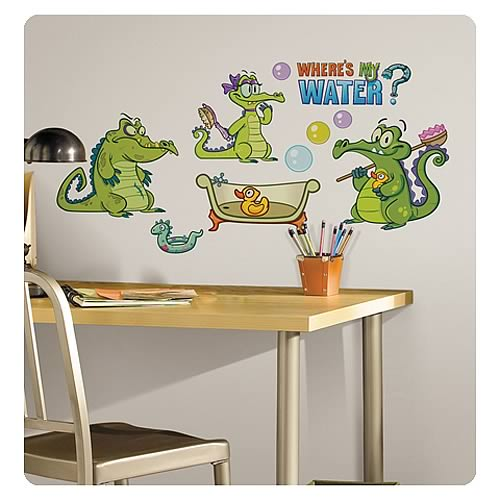 Where's My Water Peel and Stick Wall Decals