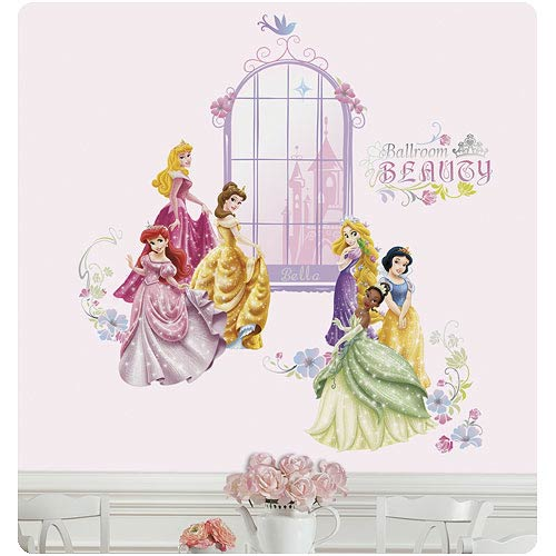Disney Princess Collage Personalized Peel & Stick Wall Decal