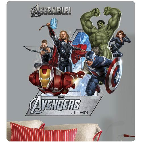 Avengers Collage Personalized Peel and Stick Wall Decal
