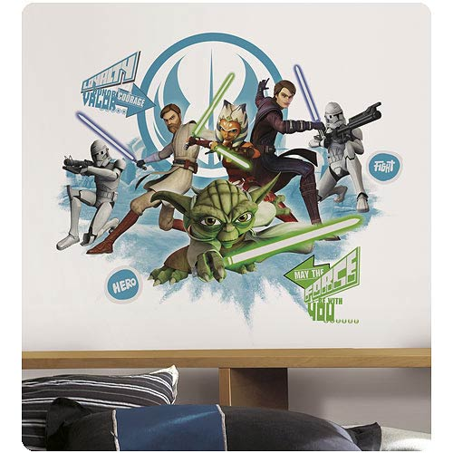star wars collage peel and stick wall decal roommates. Black Bedroom Furniture Sets. Home Design Ideas