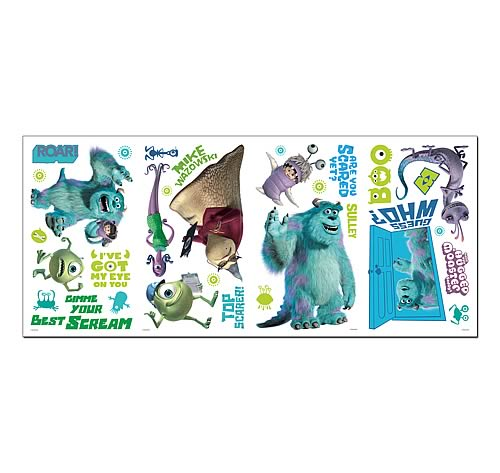 Monsters Inc. Peel and Stick Wall Decals