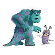 Monsters Inc. Sully and Boo Giant Peel and Stick Wall Decals
