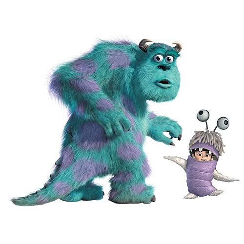 Monsters Inc. Sulley and Boo Giant Peel and Stick Wall Decal