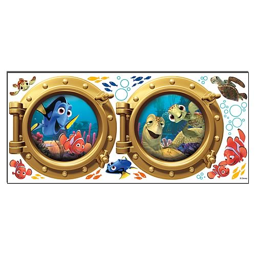 Finding nemo portholes peel and stick wall decals for Finding dory wall decals