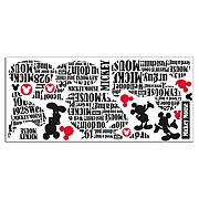 Mickey Mouse Typography Giant Peel and Stick Wall Decal