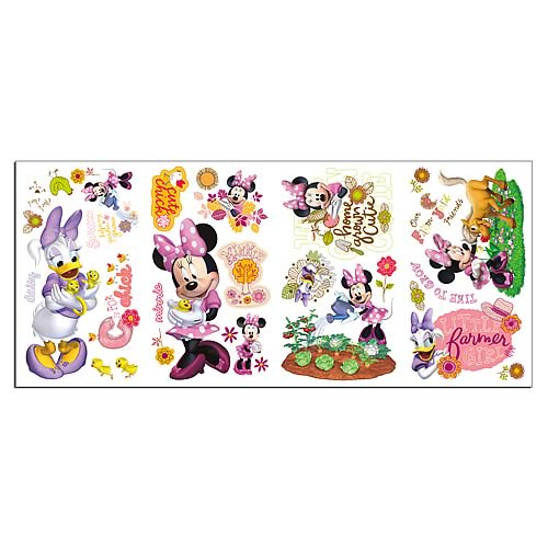 Minnie Mouse Barnyard Cuties Peel and Stick Wall Decals