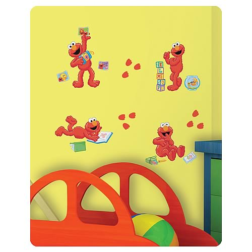 Sesame Street Elmo-Centric Peel and Stick Wall Decals