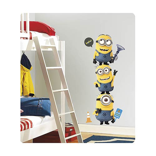 Despicable Me 2 Minions Peel and Stick Giant Wall Decals