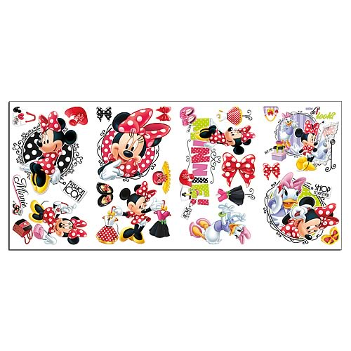 Minnie Mouse Loves to Shop Peel and Stick Wall Decals