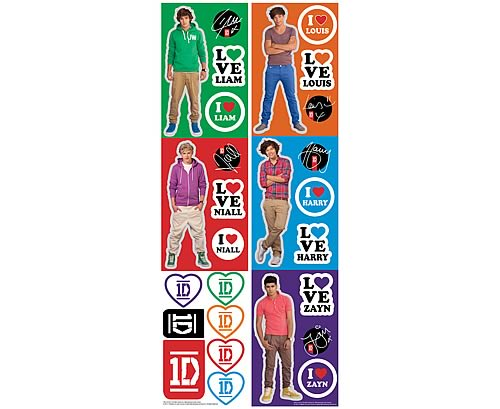 1D Peel and Stick Wall Decals