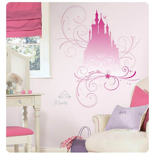 Disney Princess Scroll Castle Peel and Stick Glitter Decals