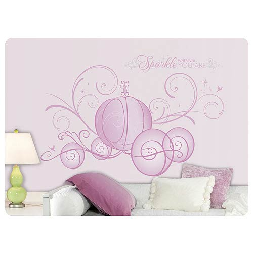 Disney Princess Scroll Carriage Peel and Stick Glitter Decal