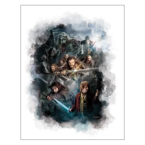 The Hobbit An Unexpected Journey Cast Ensemble Wall Graphix