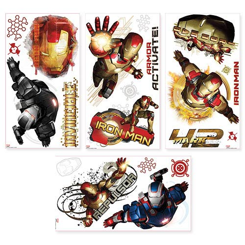 Iron Man 3 Edgy Peel and Stick Wall Decals