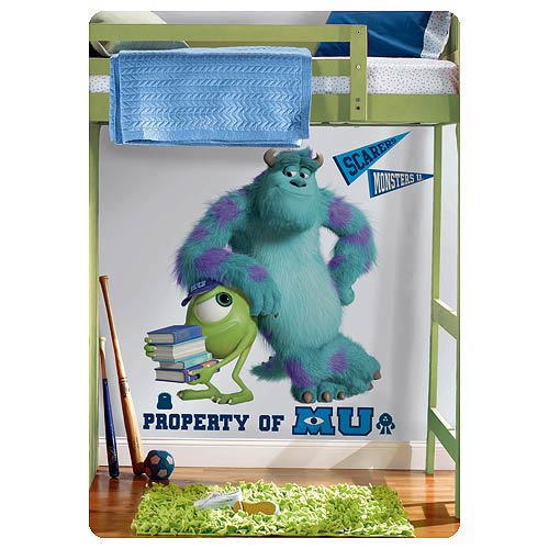 Monsters University Sulley and Mikey Giant Wall Decal