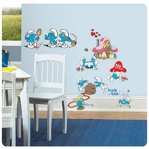 Smurfs Classic Peel and Stick Wall Decals