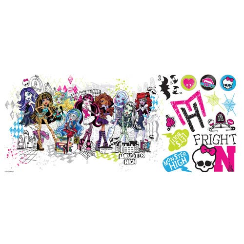 Monster High Group Peel and Stick Giant Wall Decals