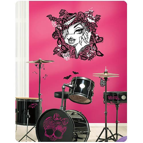 Monster High Clawdeen Wolf Face with Lace Giant Wall Decal