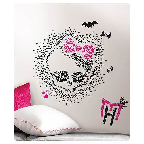Monster High Heart Skullette Giant Peel and Stick Wall Decal
