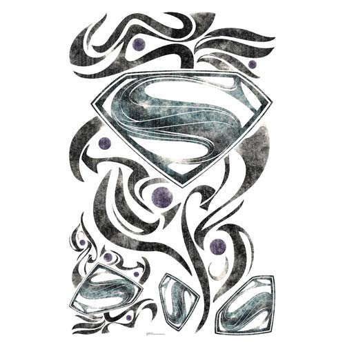 Superman Man of Steel Stylized Logo Giant Wall Decals
