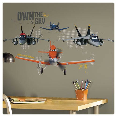 Planes Own The Sky Peel and Stick Giant Wall Decal