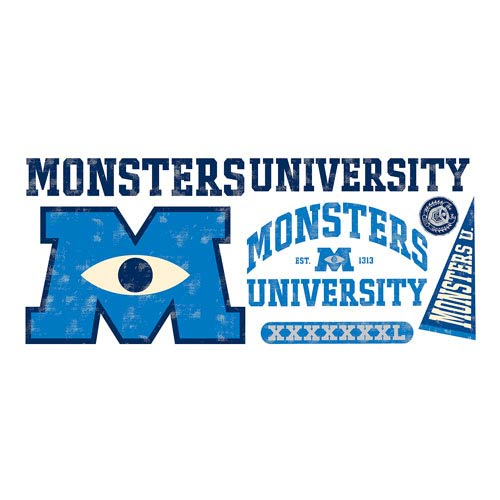 Monsters University Logo Giant Peel And Stick Wall Decal Part 58