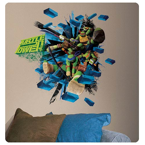 Teenage Mutant Ninja Turtles Brick Poster Giant Wall Decal