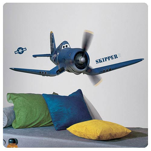 Planes Skipper Riley Peel and Stick Giant Wall Decal