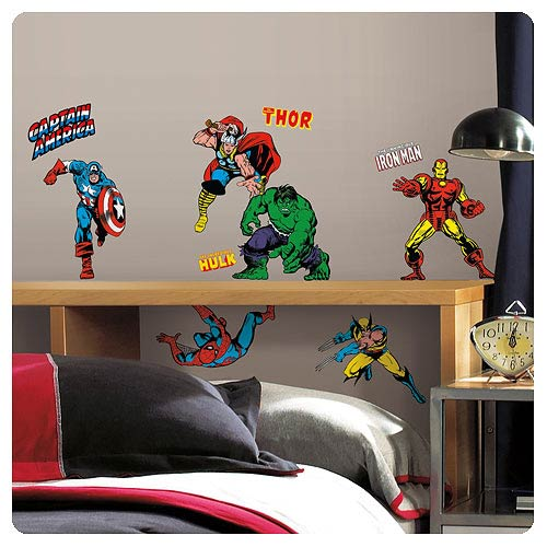 Marvel Classics Superheroes Peel And Stick Wall Decals