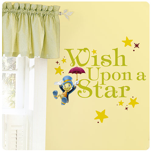 Pinocchio Jiminy Cricket Wish Upon a Star Wall Decal