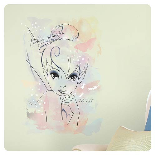 Tinker Bell I Believe in Fairies Watercolor Wall Decal