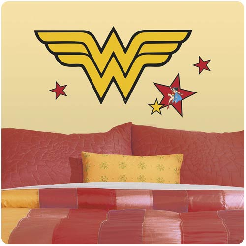 Wonder Woman Classic Logo Peel and Stick Giant Wall Decals