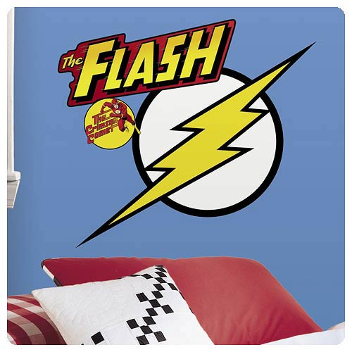 Flash Classic Logo Peel and Stick Giant Wall Decals