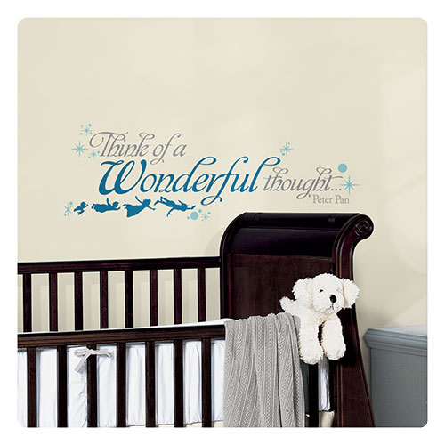 Peter Pan Wonderful Thought Peel and Stick Wall Decal