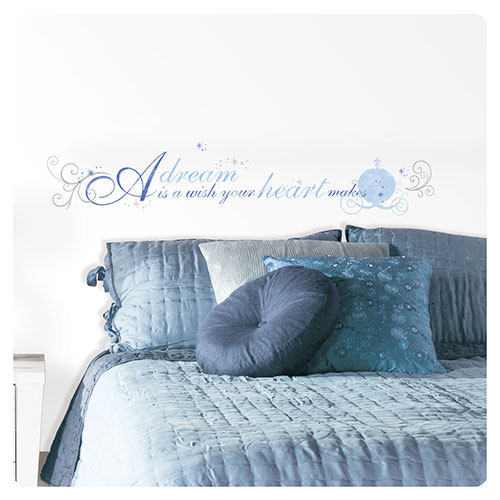 Cinderella A Dream is a Wish Peel and Stick Wall Decal