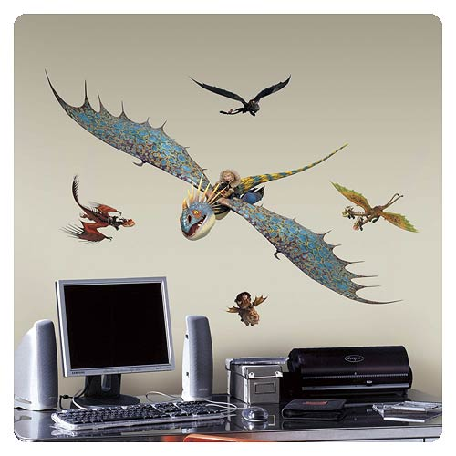 How to Train Your Dragon 2 Astrid and Stormfly Wall Decal