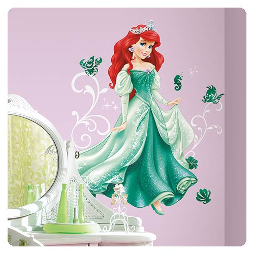 Disney princess ariel giant wall decal roommates for Disney ariel wall mural
