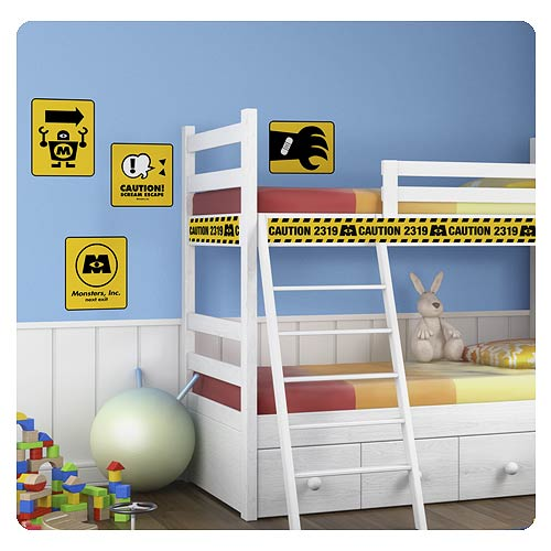 Monsters, Inc. Caution Signs Giant Wall Decals