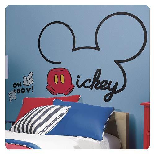 Mickey Mouse Itu0027s All About Mickey Giant Wall Decal Part 77