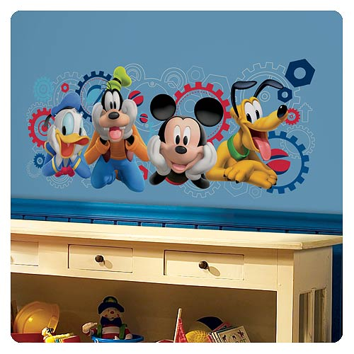 mickey mouse clubhouse capers giant wall decal roommates. Black Bedroom Furniture Sets. Home Design Ideas